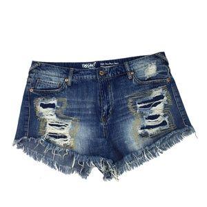 Mossimo Womens High Rise Short Short Demim Shorts